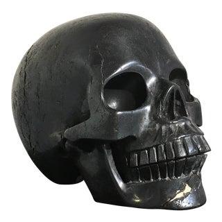 Carved Hematite Momento Mori Skull