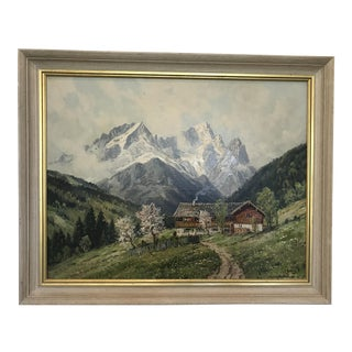 Swedish Landscape Oil Painting, Signed C. Bertold