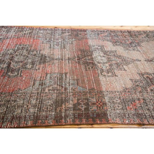 "Distressed 1930s Oushak Runner Rug - 5'3"" x 11'8"" - Image 7 of 8"
