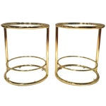 Image of Mid-Century Modern Side Tables - Pair