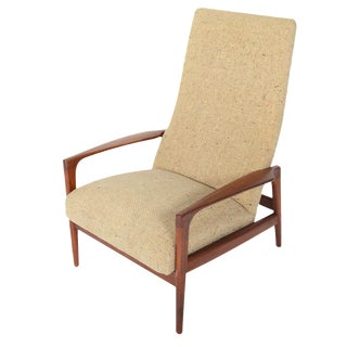 Danish Modern Highback Reclining Lounge Chair