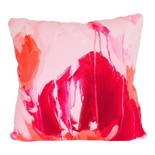 Guava Brushstroke Pillow