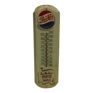 "Vintage Metal Advertising Thermometer ""Pepsi Cola"""