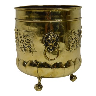 Late Victorian English Brass Footed Planter