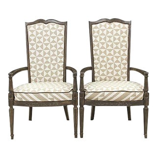 Louis XVI Nuba Chairs - A Pair