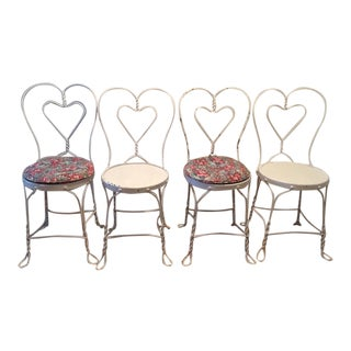 Shabby Chic Style Ice Cream Parlor Chairs - Set of 4