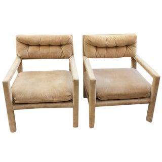 Milo Baughman-Style Parsons Chairs - A Pair