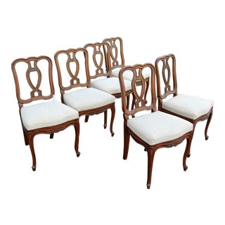 Vintage Wooden Dining Chairs - Set of 6
