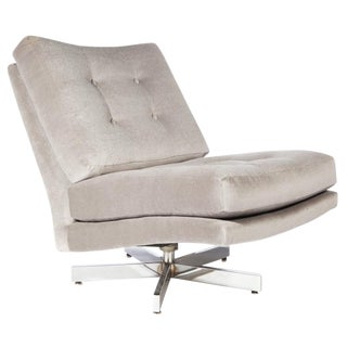 MILO BAUGHMAN SWIVEL CHAIR WITH CHROME BASE
