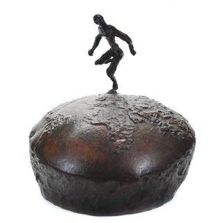 Athlete Running Across the World Bronze Sculpture