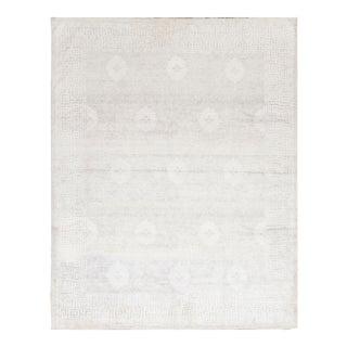 Silver Contemporary Hand Woven Rug - 8′2″ × 10′4″