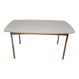 Mid-Century Chrome and White Dining Table