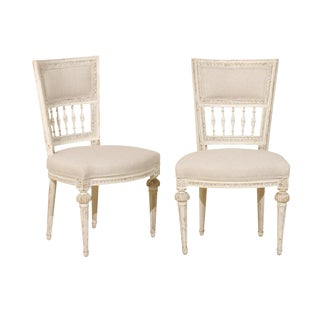 Pair of Swedish Period Gustavian, 18th Century Chairs