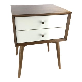 West Elm Mid-Century Style Two-Tone Nightstand Side Table