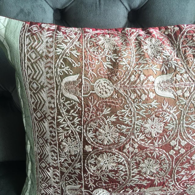 Luxury Silk Decorative Pillows : Luxury Embroidered Silk Decorative Pillow Chairish