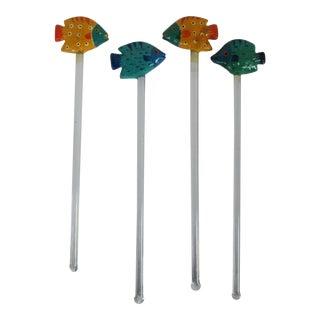 Fish Swizzle Sticks - Set of 4