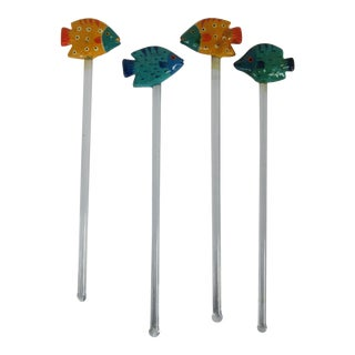 Fish Swizzle Sticks - Set of 4
