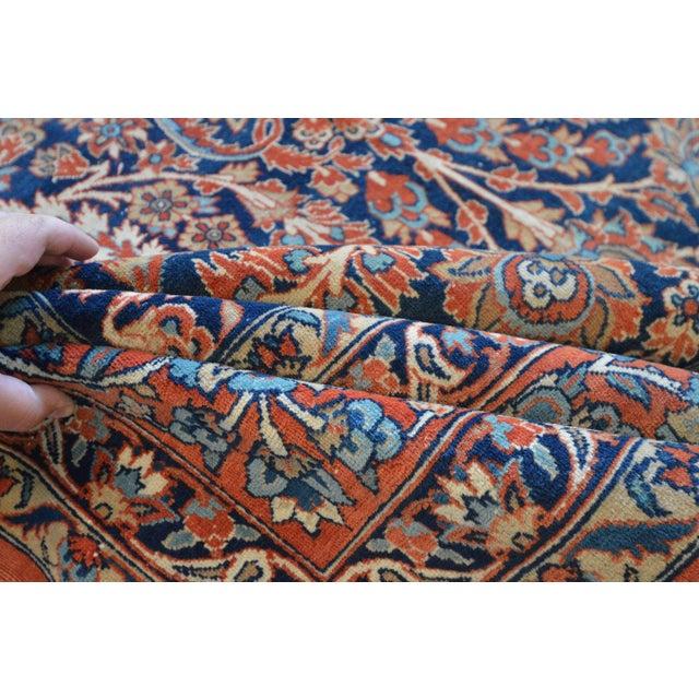 "Vintage Persian Sarouk Rug - 6'11"" X 10'11"" - Image 10 of 11"