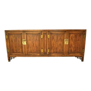 Vintage Century Furniture Asian Solid Wood and Brass Buffet Credenza