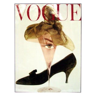 Retro Vogue Magazine Cover Martini Print