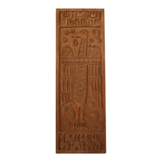 """Bird"" Wood Carving Panel For Panelcarve 1960s"