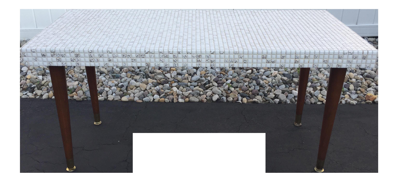Mid Century Mosaic Tile Coffee Table