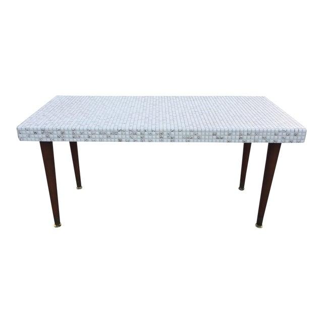 Mid Century Mosaic Tile Coffee Table Chairish