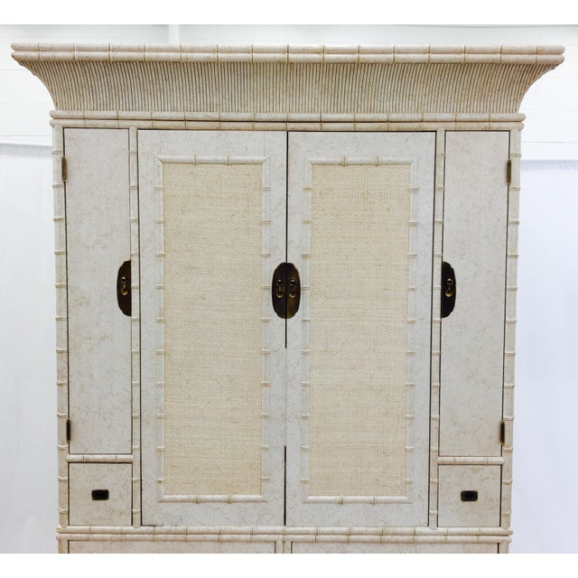 Faux Bamboo Dresser Cabinet by Ficks Reed - Image 6 of 11