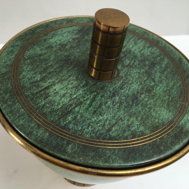Israeli Mid-Century Metal Compote - Image 4 of 7