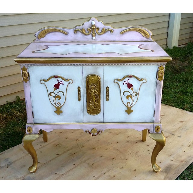 Custom Hand Painted Queen Anne Style Server - Image 2 of 9