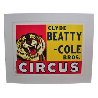 Clyde Beatty-Cole Bros. Circus Poster #1