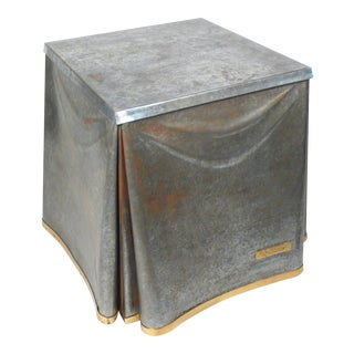 John Dickinson Galvanized Steel Occasional Table