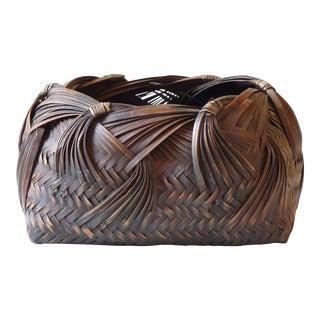 Japanese Ikebana Woven Basket