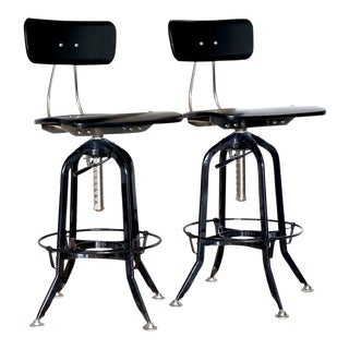 Restoration Hardware Toledo Bar Chairs - A Pair