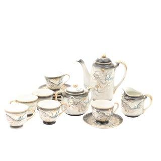 Stunning Vintage Hand Painted Moriage Dragonware Tea Set