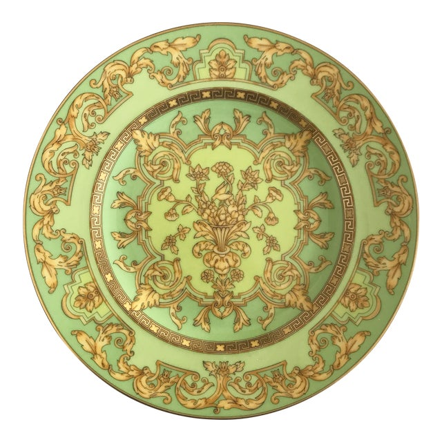 "Versace by Rosenthal ""Green Floralia"" Small Plates- Set of 6 - Image 1 of 5"