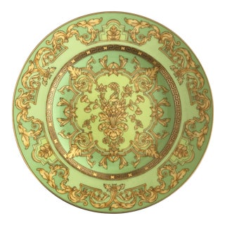 "Versace by Rosenthal ""Green Floralia"" Small Plates- Set of 6"