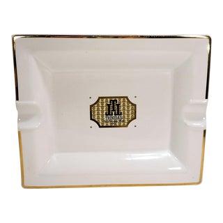 """Trinidad"" White & 14K Gold Detail Cigar Ashtray"
