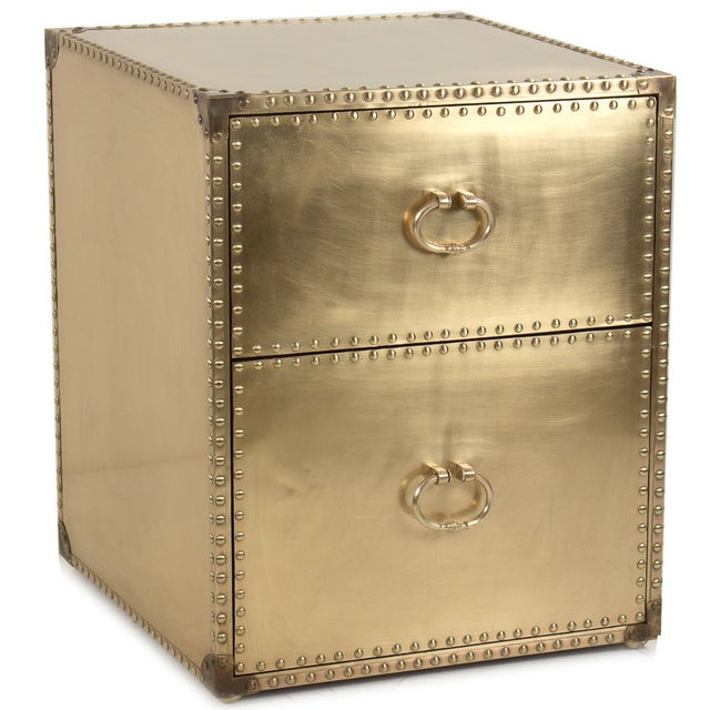 Sarried Ltd Brass Clad Side Table - Image 1 of 2