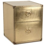 Image of Sarried Ltd Brass Clad Side Table