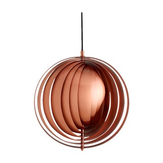 Copper Panton Verpan Moon Pendant - Retail $1115