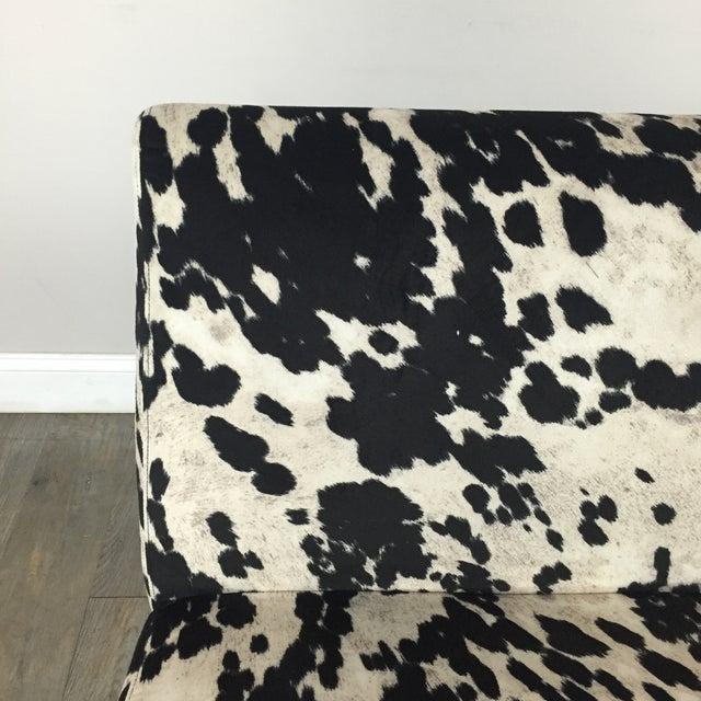 Image of Black & White Cowhide Loveseat
