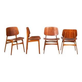 Borge Mogensen Danish Dining Chairs - Set of 4