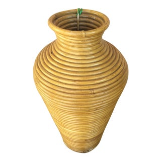 Baku Hand-Crafted Rattan Basket Vase
