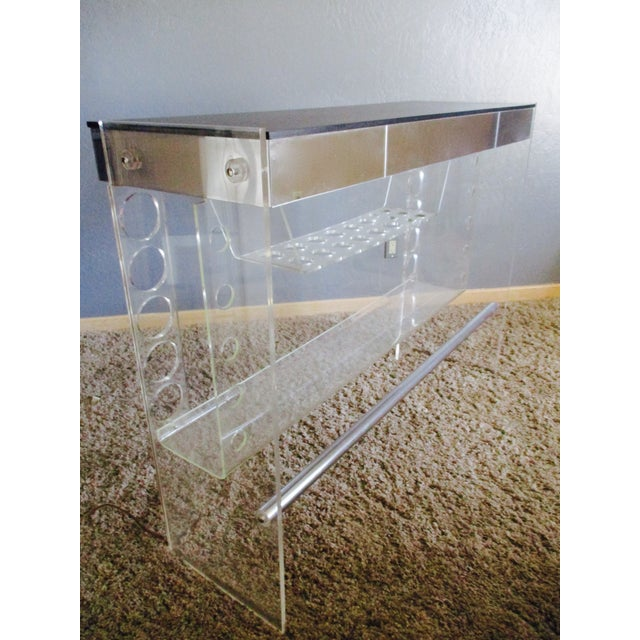Lucite Hollywood Regency Lighted Bar Table - Image 5 of 8