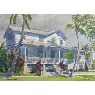 Key West, Florida Watercolor by Paul Parker