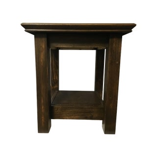Dixie Rustic Side Table with Hidden Compartment