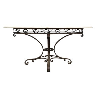 Italian Iron & Marble Table