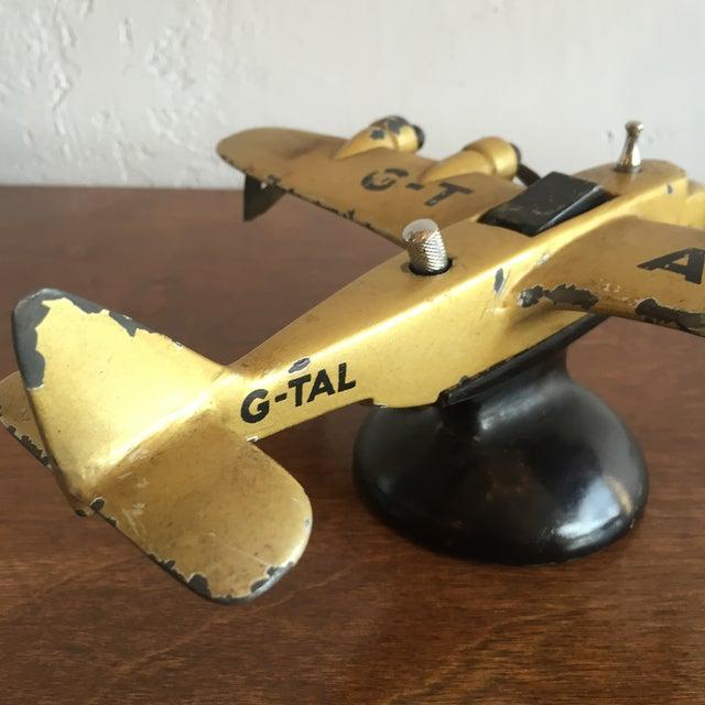 Art Deco Cast Iron Airplane Lighter - Image 6 of 7