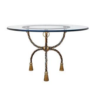 Italian Brass & Chrome Dining Table